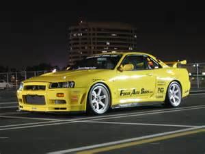 Nissan Skyline Gtr R34 Illegal Nissan Skyline Gtr R34 Yellow Drive