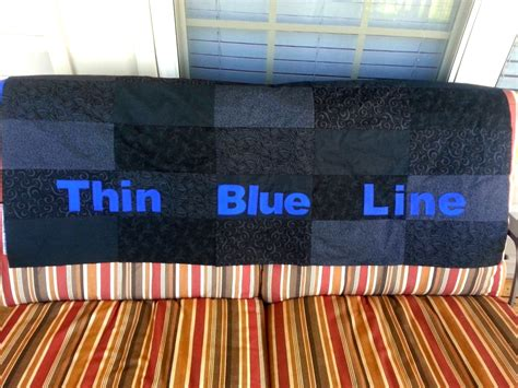 Thin Quilts by Thin Line Quilts Thin Blue Line Quilt Top Finished