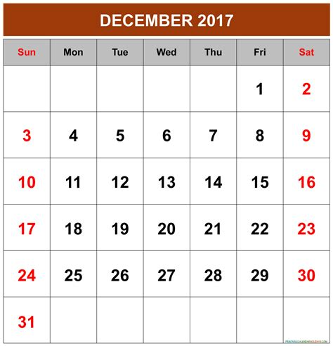 printable calendar 2017 december with holidays december 2017 calendar printable 2017 calendar