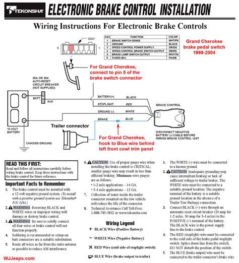 how do i install trailer brake wiring for jeep grand