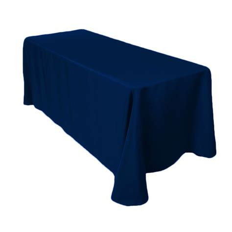 6 foot table cloth 90 x 132 in rectangular polyester tablecloth navy blue stains receptions and an eye