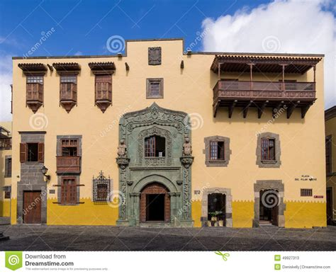 christopher house christopher columbus house las palmas de gran canaria editorial stock photo image