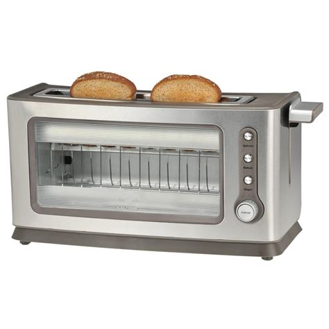 Toaster Glass 2 slice glass toaster from kalorik 174 283089 kitchen appliances at sportsman s guide