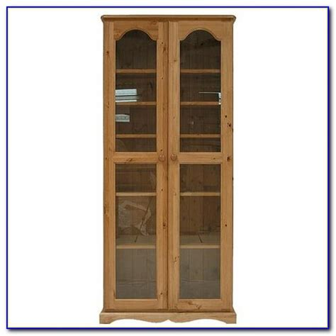 Wooden Bookcases With Glass Doors Bookcase Home Design Bookcases With Doors Uk