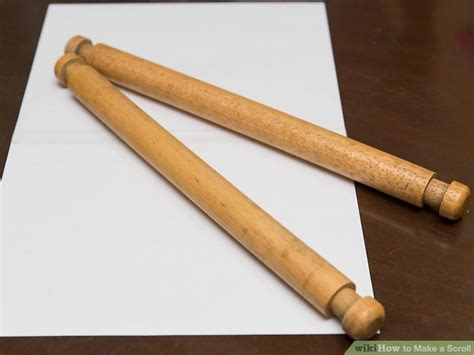 How To Make Paper Look Like A Scroll - 3 ways to make a scroll wikihow
