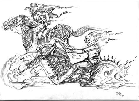 ghost rider sketch by tiesta by bgeary787 bocetos