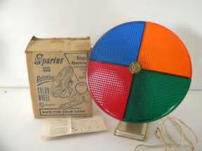 rotating color wheel vintage spartus rotating color wheel 898 aluminum