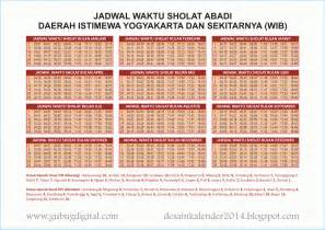 Jadwal Sholat Desain Kalender 2014 Jadwal Waktu Sholat 2014