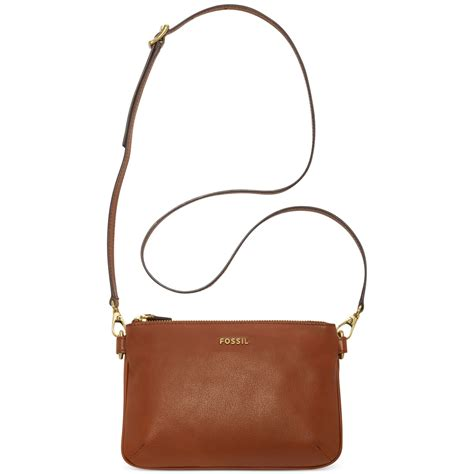 Fossil Crossbody Model 705b lyst fossil memoir leather crossbody in brown