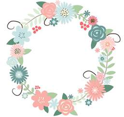 Flower Wreath Clipart recolored floral wreath watercolor floral wreath wreaths and floral