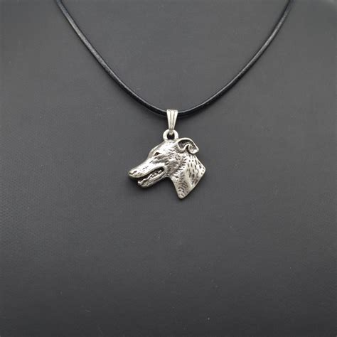 Fashion Necklace A49403 Gray wholesale personalized grey hound pendant necklace statement necklace fashion jewelry