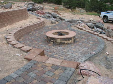 build a pit with pavers build a pit