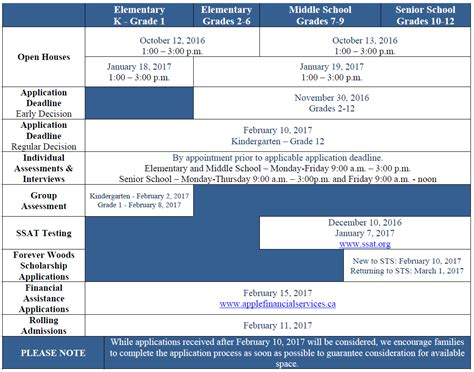 Calendar Sts 2013 Website Admissions Calendar Of Events