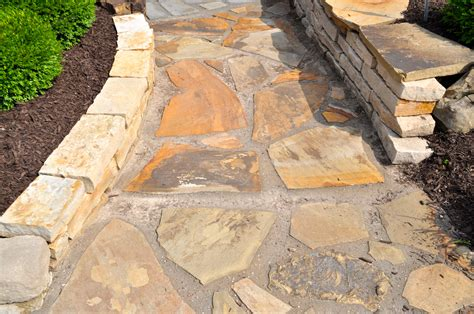 Landscape Fabric Flagstone Brown Flagstone Indianapolis Decorative Rock Mccarty