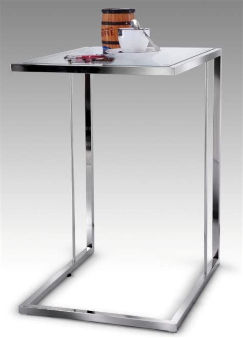 Laptop Side Table Modern Side Table Tables For Laptop Chrome Glass Stainless 42 Ebay