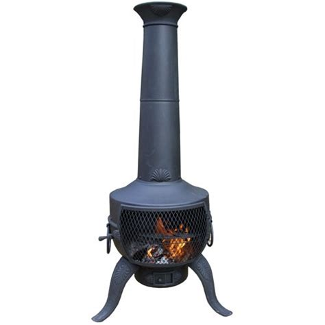 Cast Iron Chimenea Chiminea Stove Converts To Barbeque Cast Iron Patio Heater