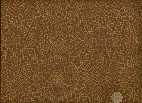Mid Century Upholstery Fabric by Arccom Radiant Almond Mid Century Modern Spirographs