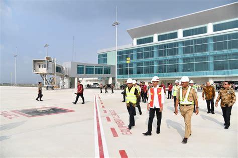 saat jokowi tinjau bandara terbesar ke 2 di ri setelah soetta presiden jokowi di jawa barat mulai dari kunjungan ke