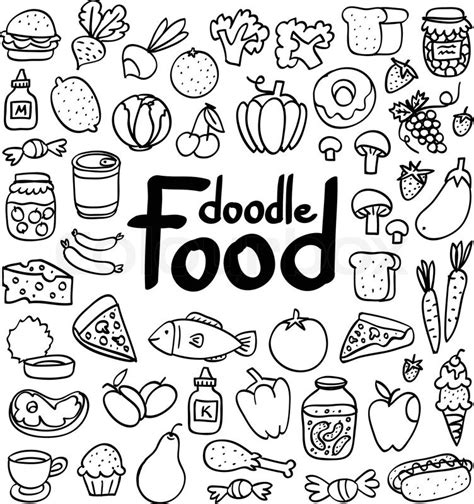 doodle food free doodle food set of 50 various products fruits vegetables