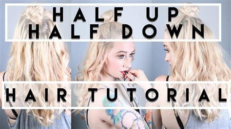 easy half up half down hairstyles youtube easy half up half down hairstyle jkissamakeup youtube