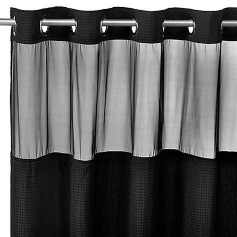 black waffle shower curtain hookless 174 waffle black 71 quot x 74 quot fabric shower curtain and