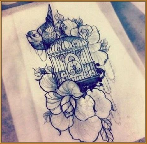 vintage bird tattoo designs bird cage www imgkid the image kid has it