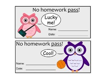 homework pass template 1000 images about homework pass on printable