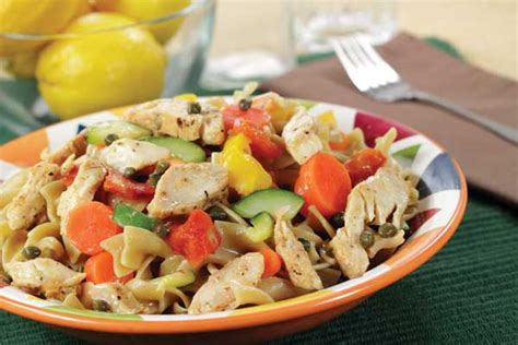 garden vegetable pasta salad recipe with dill food