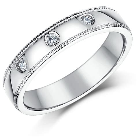 Silver Band Ring With Diamonds by Silver Rings And Sterling Silver Wedding Bands
