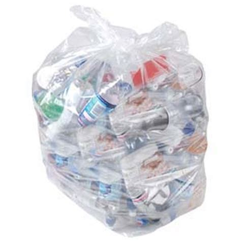 Bin Bag by Acorn Green Bin Heavy Duty Clear Printed Recycling Bin