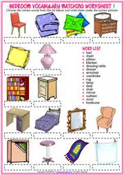 bedroom furniture vocabulary bedroom esl printable worksheets and exercises