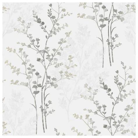 Bedroom Wallpaper Tesco Buy Arthouse Wallpaper Fern Motif Silver From Our