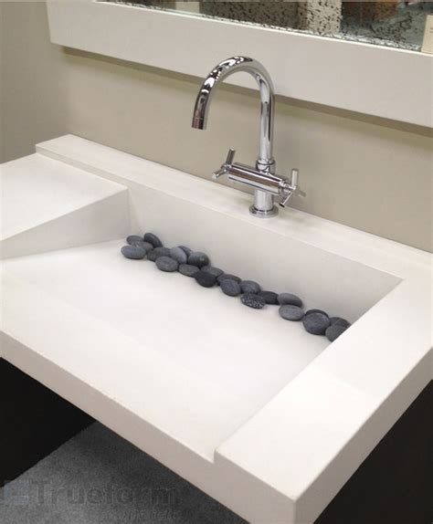 Modern Sinks Bathrooms Concrete Ada Custom Sink Contemporary Bathroom Sinks New York By Trueform Concrete