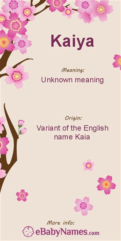 Meaning Of The Word Meaning Of Kaiya This Is A Modern Spelling Of Kaia