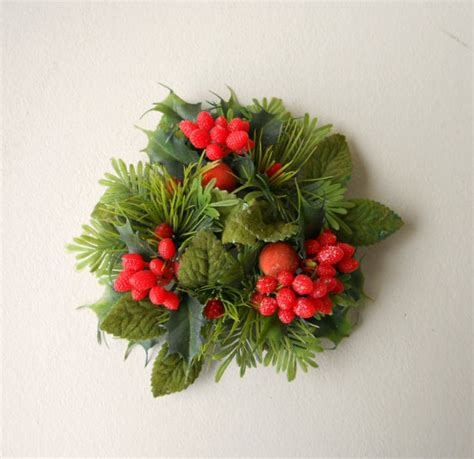 vintage christmas candle wreath holiday candle wreath
