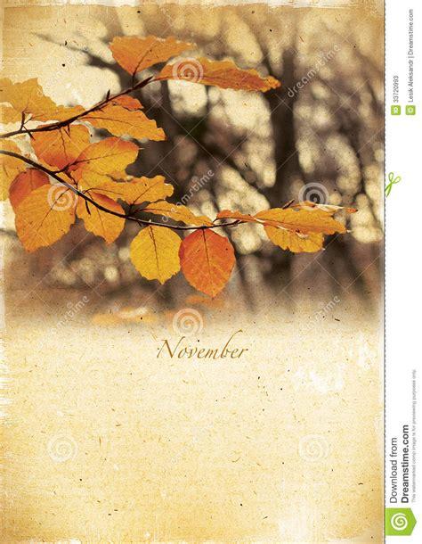 imagenes lindas retro calendario retro noviembre paisaje del oto 241 o del vintage