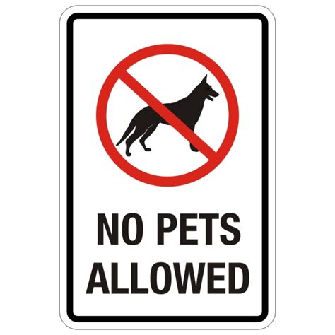 no dogs allowed sign no pets allowed sign 12 x 18 bc site service