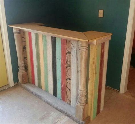 how to build a reception desk reception counter made of pallet and reclaimed lumber the