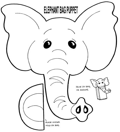 free printable paper bag puppet templates free muppet puppet patterns to print elephant puppet