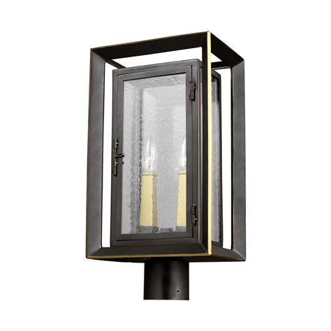 feiss urbandale 2 light outdoor antique bronze painted