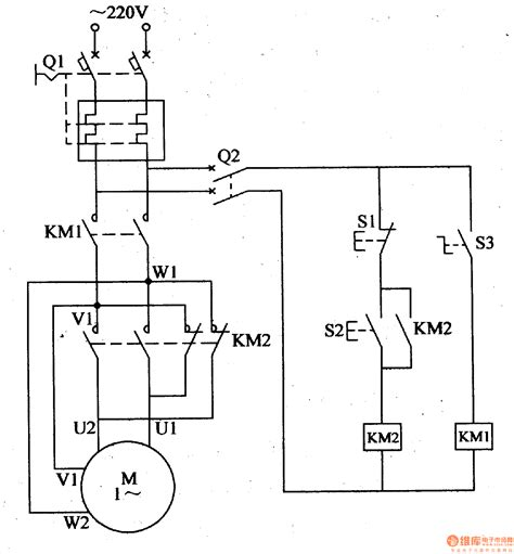 circuit diagram single phase electric motor component ac