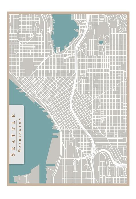 seattle map etsy 17 best images about for the home on hardwood