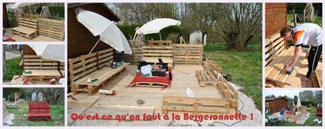 Fabrication D Une Terrasse En Palette by Construction D Une Terrasse En Palettes Et En Planches