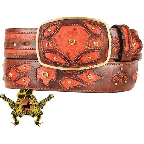Handcrafted Western Belts - quill ostrich belts ostrich belts ostrich cowboy