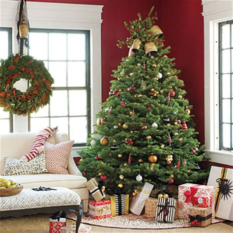 arrange living room with christmas tree get the look traditional christmas tree southern living