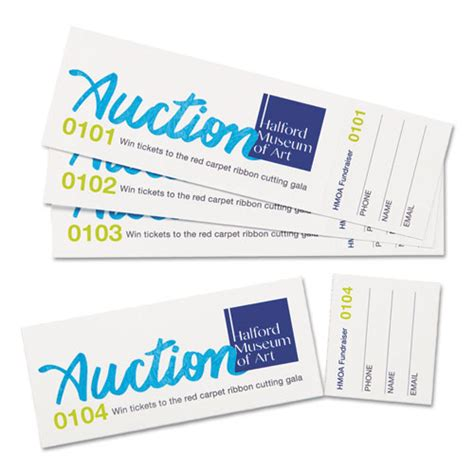 avery printable event tickets avery 16154 printable tickets with tear away stubs