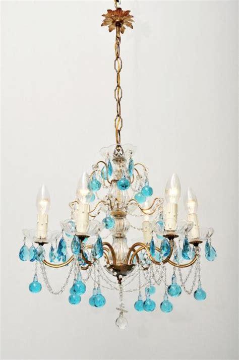 Bright Chandelier Italian Chandelier Bright Blue Icicles 6 Lights 50s Fineantiquechandeliers