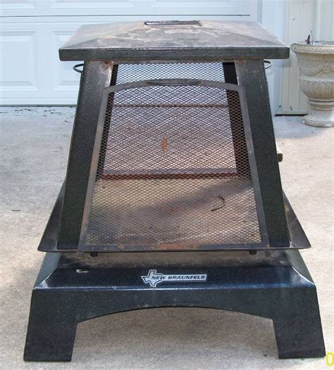 Patio Chimney Pit Used New Braunfels Square Metal Outdoor Patio Deck