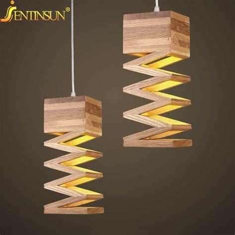 lamparas modernas luces colgantes lampara de madera