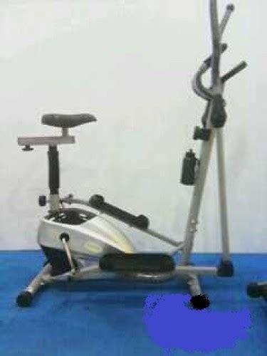 sepeda fitnes statis magnetic bike small elliptical crosstrainer tl 8502 magnetik bike 2 in 1